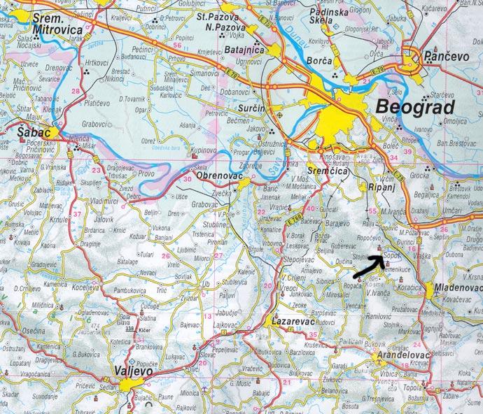 mapa okoline beograda Huis te koop in Sopot mapa okoline beograda